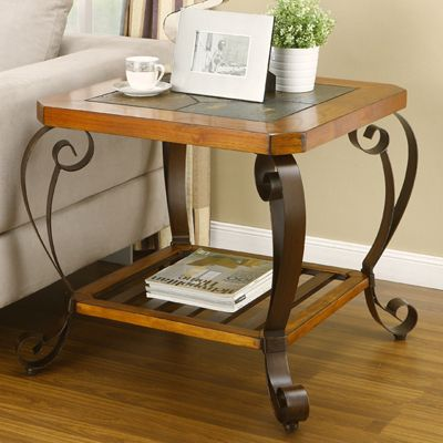 Slate End Table At Big Lots Townhouse Pinterest The O 39 Jays Dark Brown And Brown