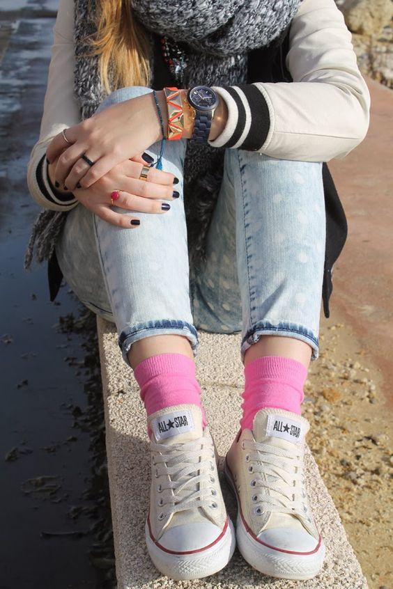 Lemonade Attack Pink Socks toks: Dots and socks