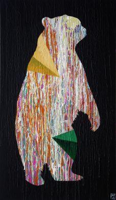 The Heart and The Womb by Will Eskridge #contemporaryart #bearart #silhouette #pyramids #vibrant #bold #modernart #wildlife #animal #surrealism #minimalism #wallart #homedeocr #interiordecor #interiordesign #dwell @zatista