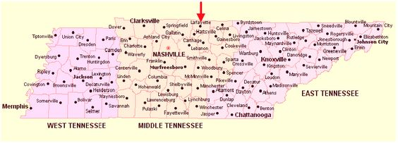 Map of Tennessee cities MAPS Pinterest City