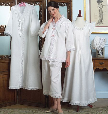 Nightgown, robe, jacket and pants!: