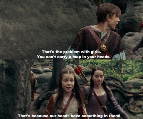 The Chronicles of Narnia: Prince Caspian. I was so glad they kept this line from the book. It's one of my favorites ever.: