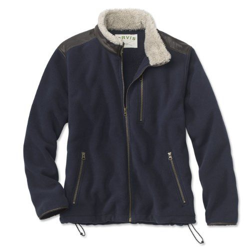 Top Quality Orvis Men's Sherpa Fleece Jacket, Dark Navy, Large ...