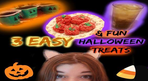 EASY DIY HALLOWEEN TREATS!  hope you guys enjoy this video!! please re-pin!