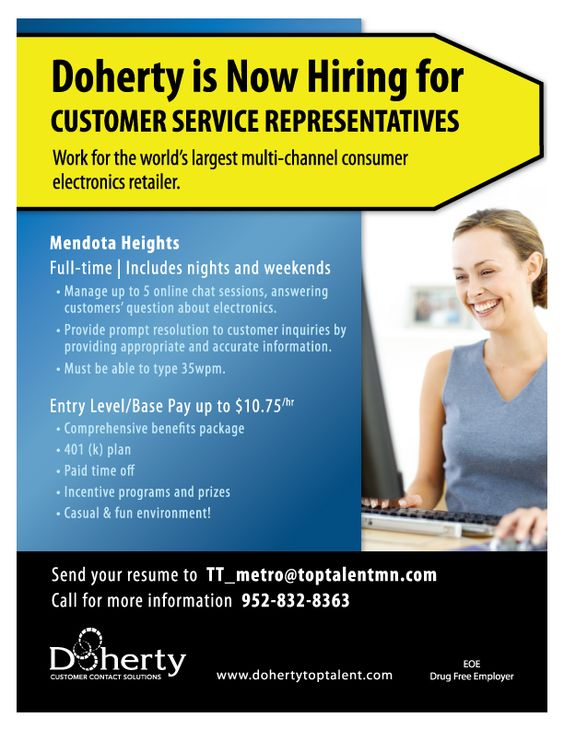 Now hiring Customer Service Representatives in Mendota Heights - now hiring flyer template