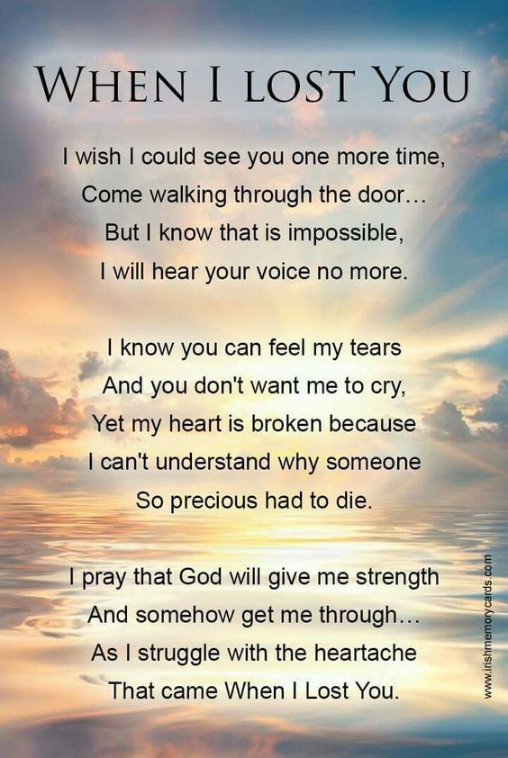 When I Lost You Grief Poems Grieving Quotes I Miss You Dad