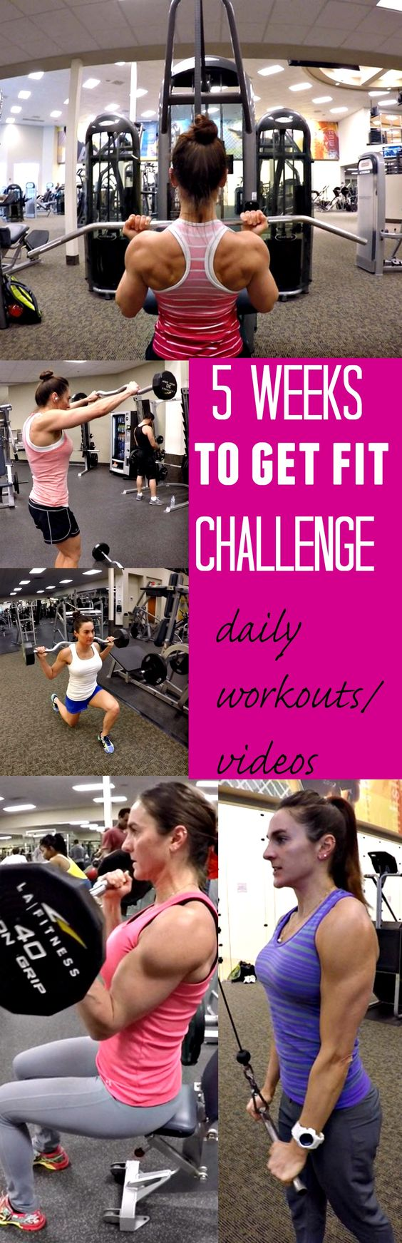 Take this 5 Weeks To Get Fit Challenge and see what you can do!