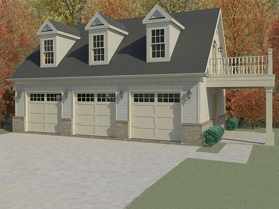 Plan 006g 0115 garage plans and garage blue prints from for Garage guest house plans