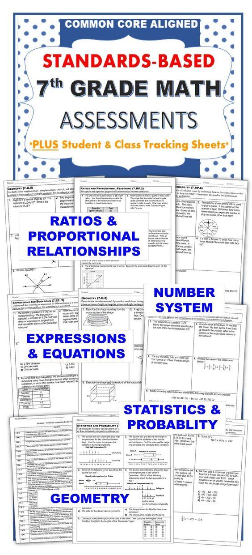 7th Grade Math Standards Based Assessments All Standards