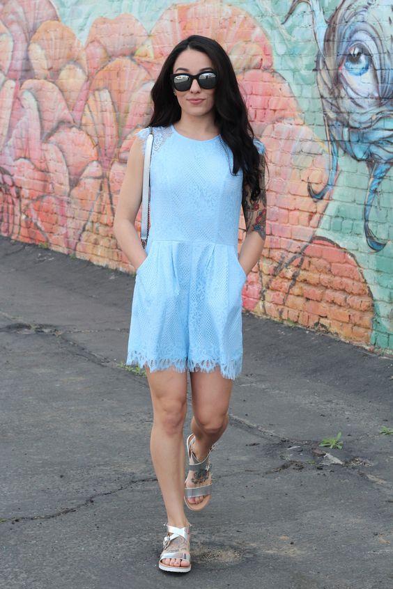 Lacey Little Blue Romper
