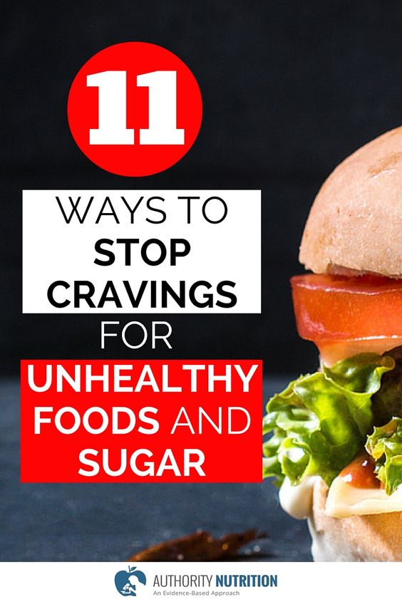Ways to stop cravings for unhealthy foods and sugar