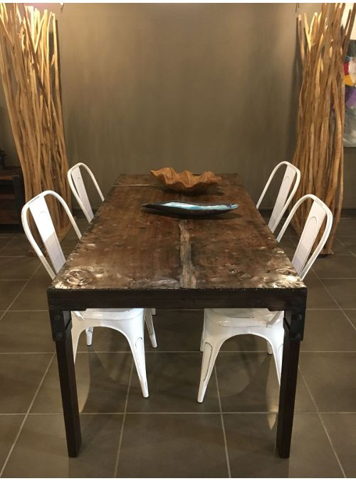 Tavolo In Ferro Effetto Ruggine Parker Tavolo Legno Massello Tavoli In Legno Tavolo Ferro
