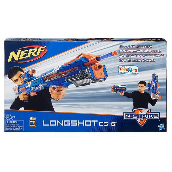 One of the biggest, longest, best Nerf blasters from the Nerf N-Strike series just got an Elite paint job. Check out the Elite Nerf Longshot CS-6 Review.