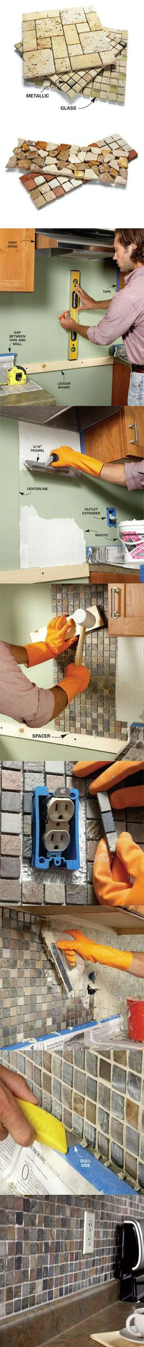 Learn how to create a mosaic tile backsplash.