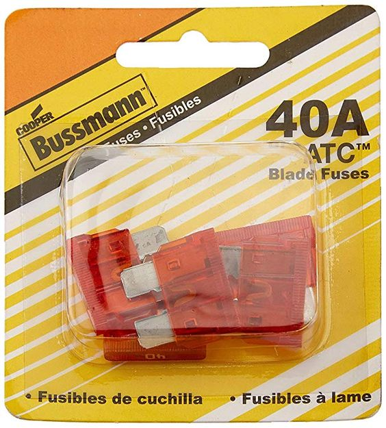 Bussmann Bp Atc 40 Rp 40 Amp Atc Blade Fuse Pack Of 5 25 Fuses Review Fuses Electrical Schematic Symbols Electrical Jobs