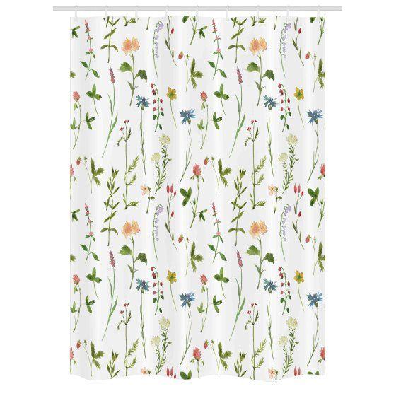 Home Stall Shower Curtain Bathroom Themes Botanical Bathroom