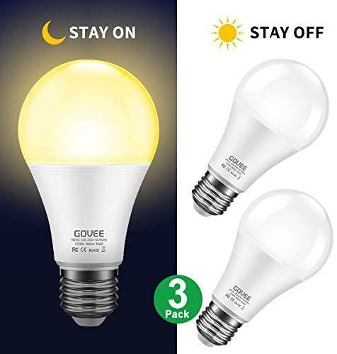Sensor Light Bulbs Dusk To Dawn Light Bulb Govee 7w Smart Automatic Led Bulbs With Auto On Off Indoor Outdoor Lig In 2020 Indoor Outdoor Lighting Led Bulb Light Bulb