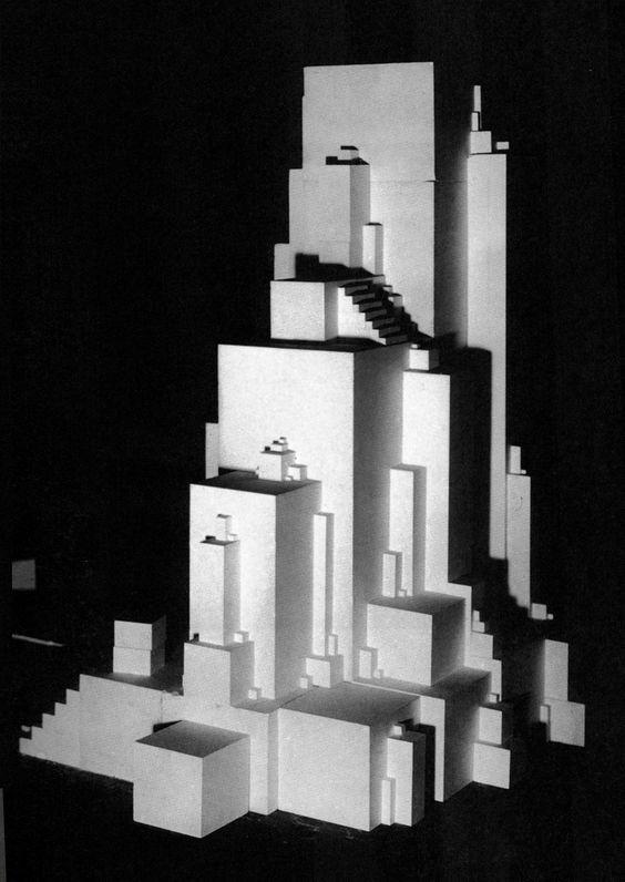 Architekton Zeta de Kazimir Malevich, 1926. Se encuentra en el libro- Construyendo el arte soviético Revolución y Arquitectura 1915 hasta 1935 por Jean-Louis Cohen y