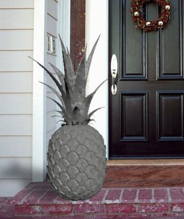 Decorative Stone Pineapple to welcome you home.: