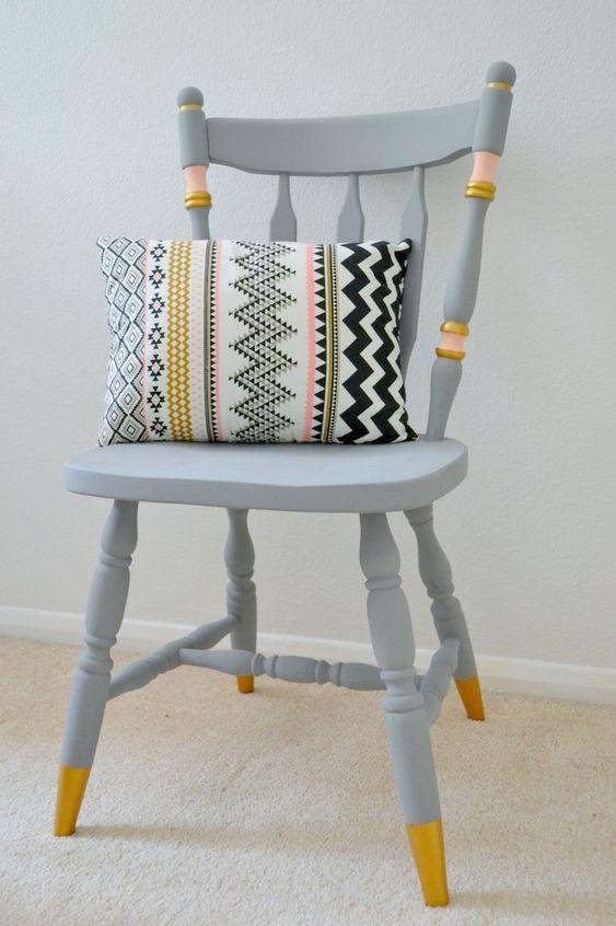 7 formas sorprendentes de personalizar taburetes, sillas o sillones fácilmente
