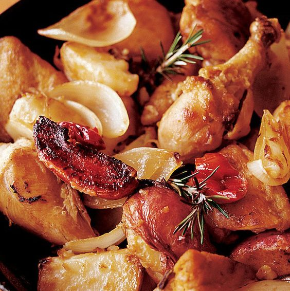 My Mother's Chicken & Potatoes from Lidia Bastianich #recipe