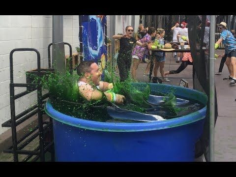 Filling A Dunk Tank With Slime Video Dunk Tank Dunk Slime