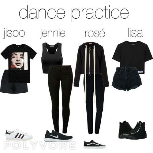 Dance Practice Blackpink Kpop Outfits Korean Outfits Kpop Kpop Fashion Outfits Dance Outfits Practice