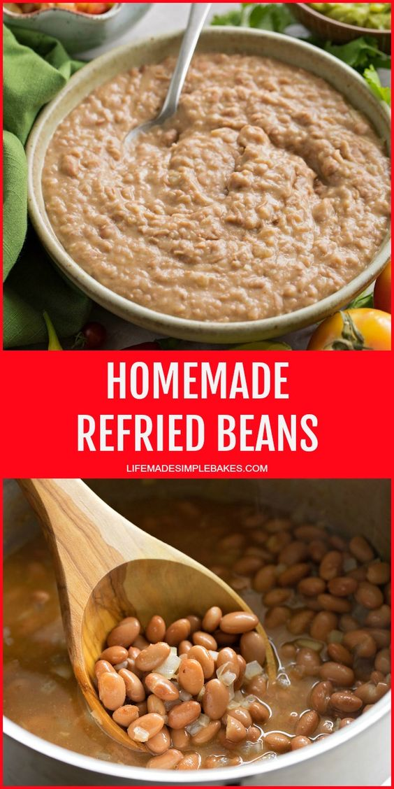 Easy + Creamy Refried Beans - Life Made Simple