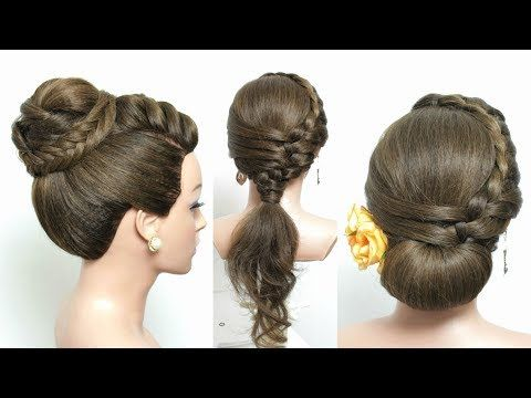 Bridal Updo Braided Hairstyle For Long Hair Tutorial Youtube Braids For Long Hair Cool Braid Hairstyles Long Hair Styles