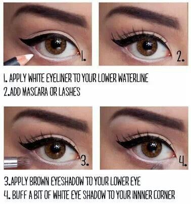 How To Make Your Eyes Look Bigger With Makeup Video - Mugeek ...