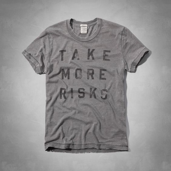 Mens Stony Creek Tee   Mens Graphic Tees   eu.Abercrombie.com, Take more Risks, Tshirt, Design, Graphic, Type, Typography