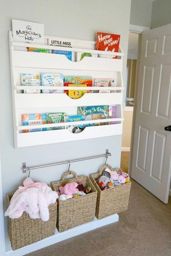 Space Saving Ideas Ideas Spacesaving Space Saving Ideas Childrenroomideas Baby Room Storage Toddler Room Organization Toy Storage Organization
