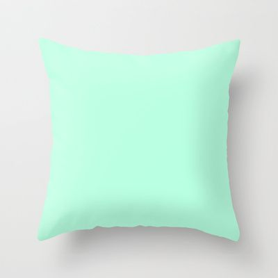 {FREE SHIPPING THRU 6/30} SOLID MINT Throw Pillow by natalie sales - $20.00