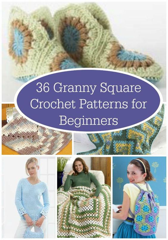 Knitting Granny Squares For Beginners : Granny square crochet patterns for beginners free