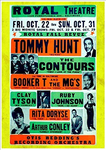 Tommy Hunt Royal Theatre Baltimore A4 Glossy Vintage Concert Poster Art Print Amazon Co Uk Ha Vintage Concert Posters Concert Posters Concert Poster Art