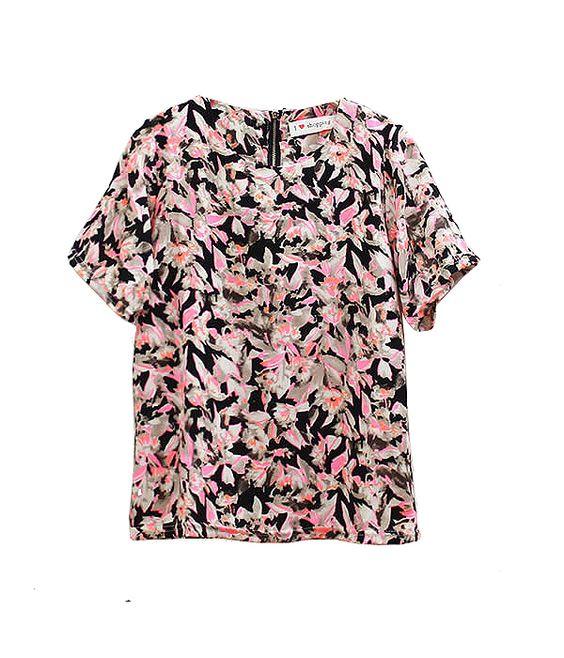 Petal Print Chiffon Shirt :