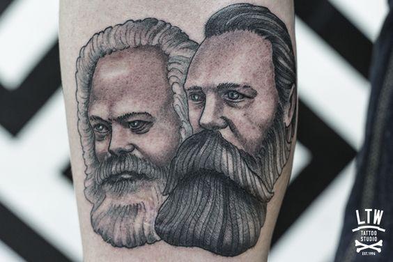 #marx #engels #tattoo #juanber #ltw #ltwtattoo