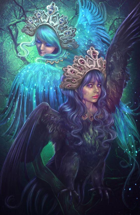 secrets-of-the-starfall:    Sirin and Alkonostby LiliaOsipova