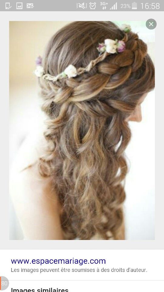 Couronne tresse mariage