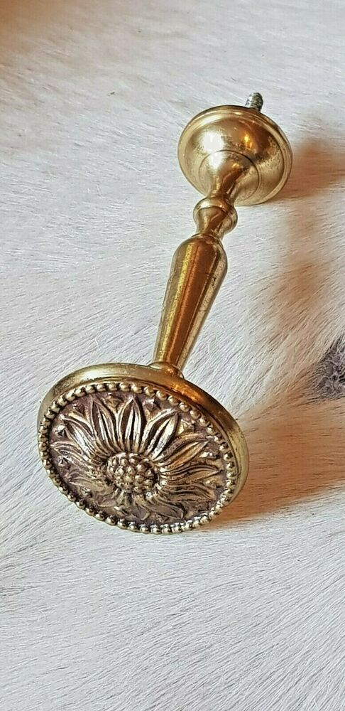 Vintage Brass Sunflower Curtain Tie Back Curtain Hold Back