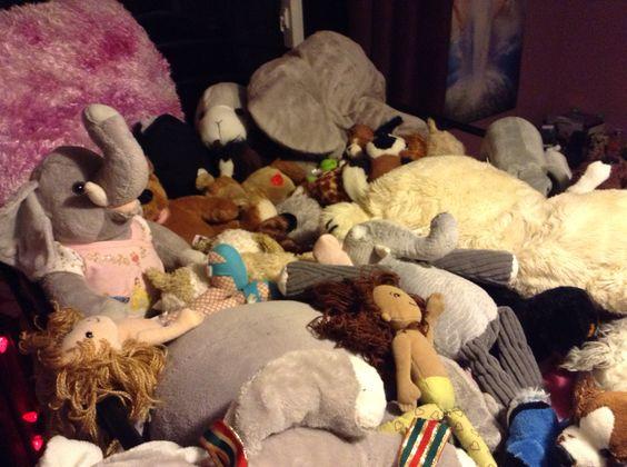 My stuff animal collection