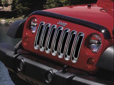2007-2012 Jeep Wrangler Grille Insert Applique CHROME MOPAR GENUINE OEM NEW #Mopar