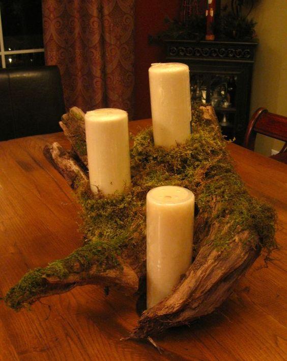 Log candle holder i can make it pinterest decor for Log candle holder how to make