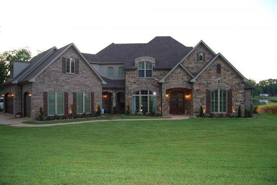 brick and rock home exterior design photos Dramatic Stone