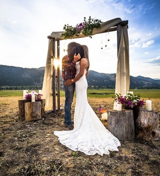 Country Rustic Wedding Altars: Destination Ranch Weddings