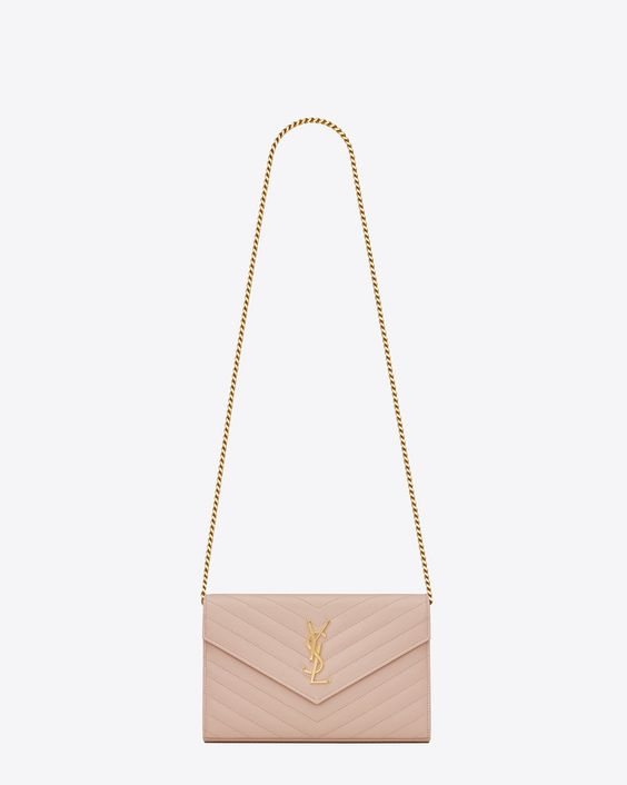 ysl wallet on chain pink