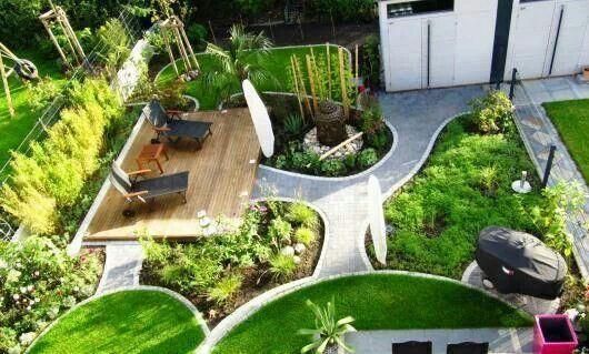 Reihenhausgarten garten pinterest for Gartengestaltung 100 qm