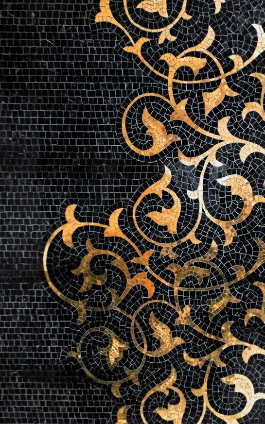 Glass Mosaic BRECCI GOLD MOSAICS by Brecci by Eidos Glass