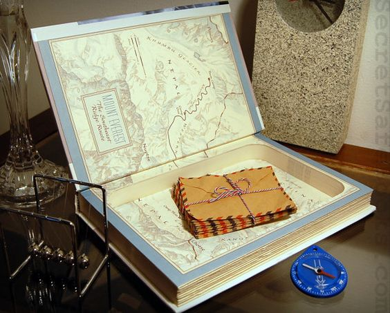 Hollow Book Safe INTO THIN AIR by SecretSafeBooks on Etsy, $45.00. Love this!!!
