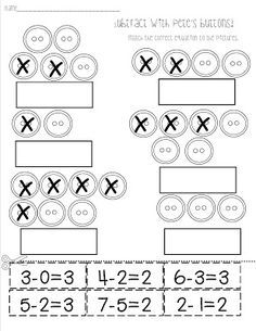 Pete the Cat Activities: FREE Subtract with Pete the Cat worksheet ...